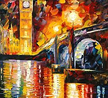 LONDON - LEONID AFREMOV by Leonid  Afremov