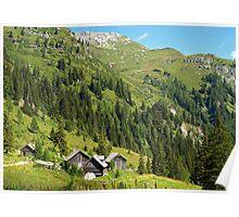 Alpine Cottages in Zederhaus, Austria Poster
