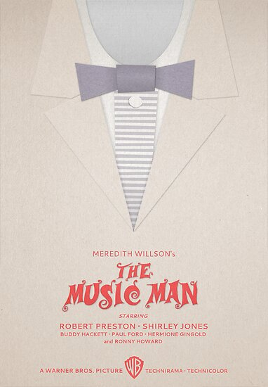 Minimalist Movie Poster: Meredith Wilson's The Music Man by Sam Novak
