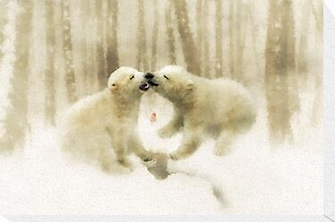 Polar Kisses by Angelgold Art