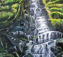 A Welsh Waterfall - Landscape by © Linda Callaghan