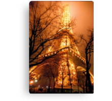 Misty Eiffel Tower, Paris  Canvas Print