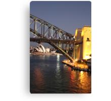 Sydney Harbour Icons Canvas Print