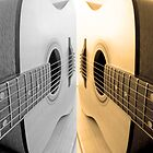 Guitar Sideways Reflection by Victoria Ellis