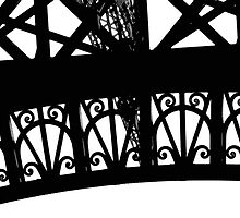 Eiffel Tower Abstract by marybedy