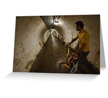 Riding under the Thames, GreenwichTunnel Greeting Card