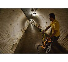 Riding under the Thames, GreenwichTunnel Photographic Print