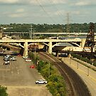 Road and Rail from Wabasha St bridge. by AlbertLake