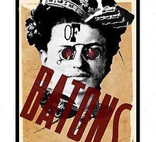 Dada Tarot-King of Batons by Peter Simpson