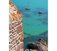 Mont Orgueil Castle and Gorey Harbour Photographic Print