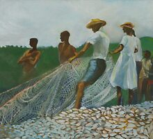 Fishing folk, Dominica  by Christian George