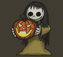 Creepy Girl with Pumpkin by Wislander