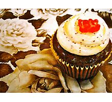 The Cupcake in Sepia Photographic Print
