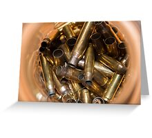 Brass Bullet Casings Greeting Card