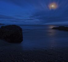 Moonlit Rock - Crosshaven Co. Cork by Pascal Lee