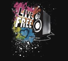 Live Free (Raw Black) by emxacloud