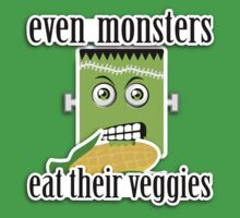 Monsters Eat Their Veggies (Little Frank) by rtofirefly