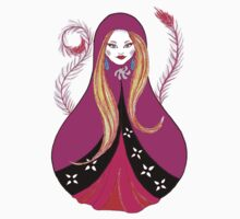 Matryoshka with Feathers by Almonda