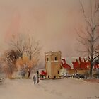 Saltwood church under snow by Beatrice Cloake Pasquier