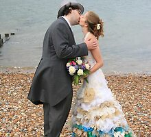 Wedding on Whitstable Beach by Touchstone21