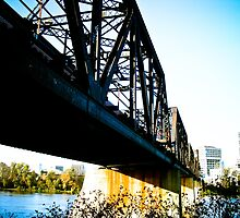Old Train Bridge by mdkgraphics