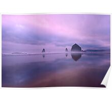 Cannon Beach reflections Poster