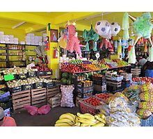 Colourful mexican farmers market Photographic Print