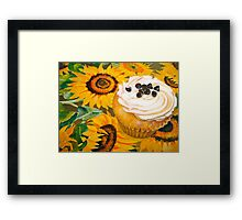 Cupcakes and Sunflowers... Framed Print