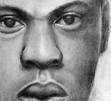 A drawing of Jay Z by paintingsbycr10
