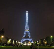 Blue Eiffel Tower by Conor MacNeill