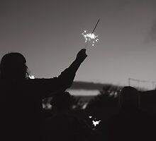 girl with a sparkler  by Daniyel Lowden