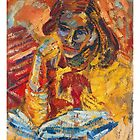 Girl Reading by Adam Dutkiewicz