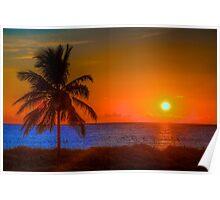 Miami Beach Sunrise Poster
