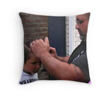 Quiff sculpting! Throw Pillow
