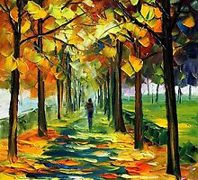 THE GOLD OF FALL - LEONID AFREMOV by Leonid  Afremov