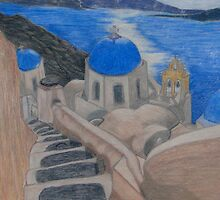 Stairway to Greek Heaven by Marsha Free