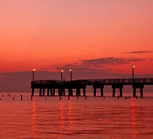 Fishing Pier Morning by Michael Mill