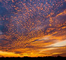 Spectacular Texas Sunset by Ken  Hurst