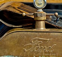 1915 Ford Depot Hack Hood Ornament by Jill Reger
