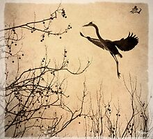 Heron coming Home to Roost. by jjividen