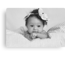 Little miss L :) Canvas Print