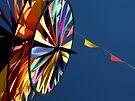 Rainbow Pinwheel Windmill & Flags by waddleudo