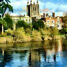 Beautiful Britain - Hereford Cathedral by Dennis Melling
