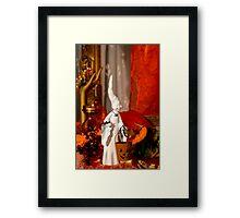 Halloween background  Framed Print