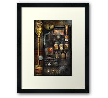 Steampunk - All that for a cup of coffee Framed Print