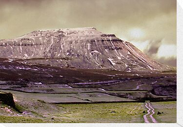 Ingleborough in the Yorks Dales by Trevor Kersley
