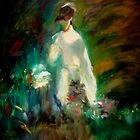 Impression of Young Woman among Flowers by Iva Penner