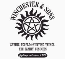 T-SHIRT SUPERNATURAL WINCHESTER & SONS by thischarmingfan