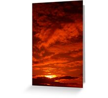 Red Sky North Sea Greeting Card