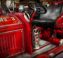 Fireman - Fire Engine No 3 by Mike  Savad